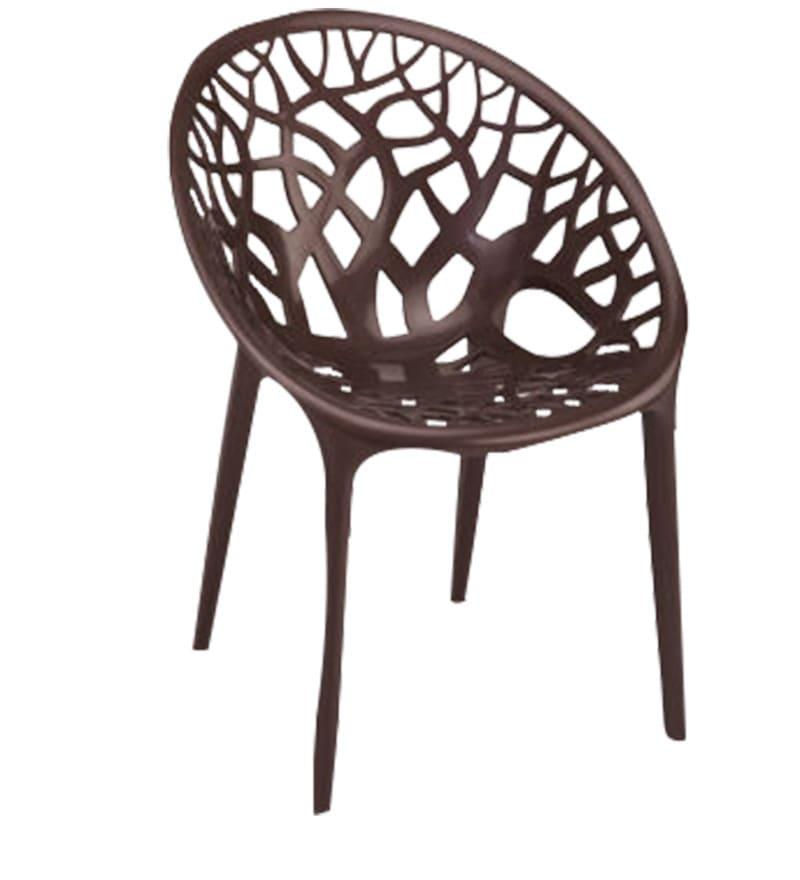 Buy Crystal Designer Chair In Brown Colour By Nilkamal