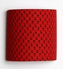Floral Booti Red Half Shade Fabric Wall Lamp by Craftter