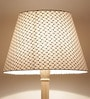 Booti Black & White Wooden & Fabric Floor Lamp by Craftter