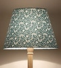 Traditional Keri Design Green Wooden Floor Lamp by Craftter