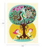 Paper 12 x 17 Inch Love Tree Print Unframed Poster by Crude Area