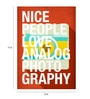 Paper 12 x 17 Inch Nice People Like Photography Print Unframed Poster by Crude Area