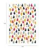 Crude Area Paper 12 x 17 Inch Rain Print Unframed Poster