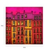 Paper 15 x 15 Inch Paris Red Facade Print Unframed Poster by Crude Area