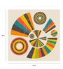 Paper 15 x 15 Inch Retro Wheel Print Unframed Poster by Crude Area