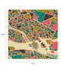 Paper 15 x 15 Inch Stockholm Print Unframed Poster by Crude Area