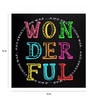 Paper 15 x 15 Inch Wonderful Print Unframed Poster by Crude Area