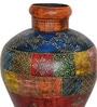 Multicolour Iron Handpainted Jodhpuri Vase by CS Exports
