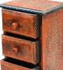 Akash Collectible with 3 Drawers in Multicolour by Mudramark