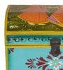 CS Exports Multicolour MDF & Mango Wood Handpainted Jodhpuri Sandook