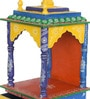 CS Exports Multicolour MDF & Mango Wood Handpainted Jodhpuri Temple