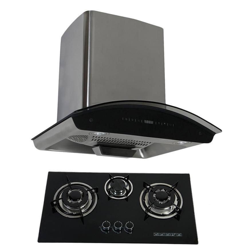 Cubix 1007 60 Cm Hood Chimney and 3-Burner AI Hob Combo