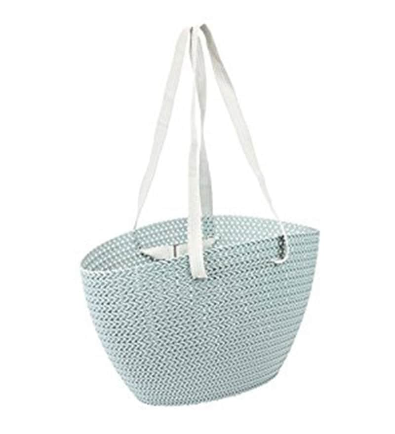 Curver Knit Plastic 23 L Blue Emily Shopping Bag