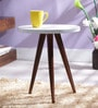Arlington Tripod Stool in Dual Tone Finish by Woodsworth