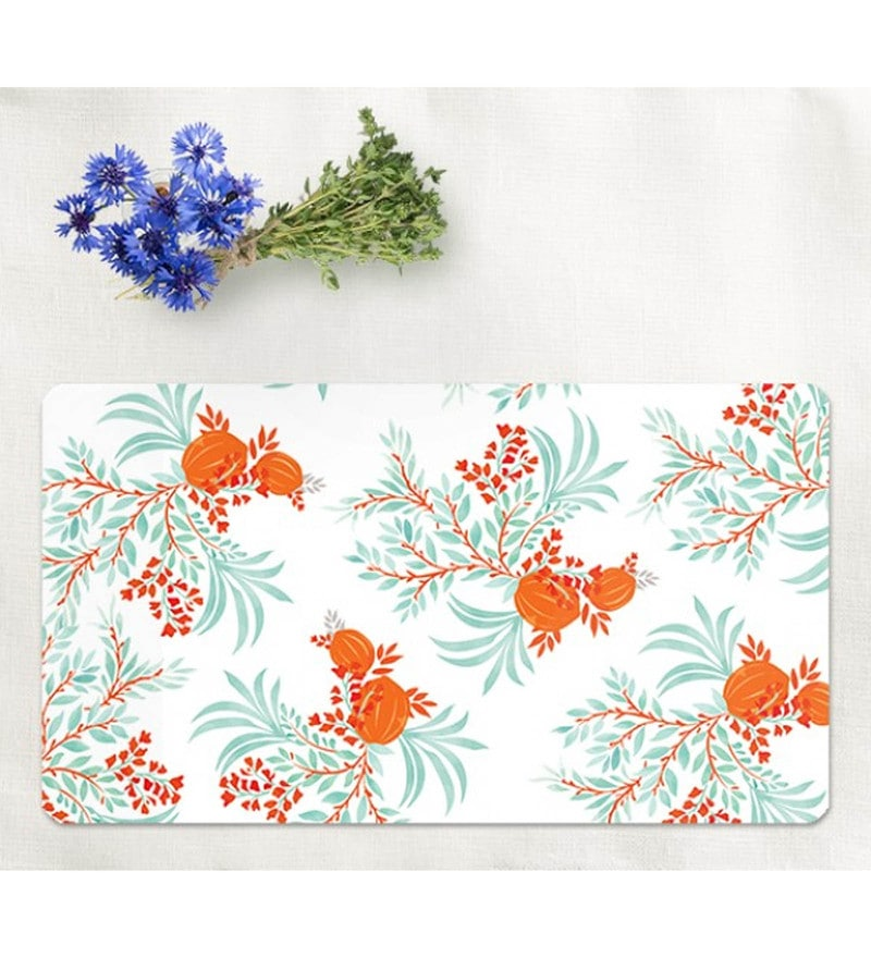 Cyahi Culinary Delights Multicolour Laminated MDF Placemats - Set of 6