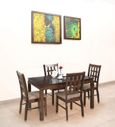 Daisy Four Seater Dining Set in Dirty Green Colour by Royal Oak at pepperfry