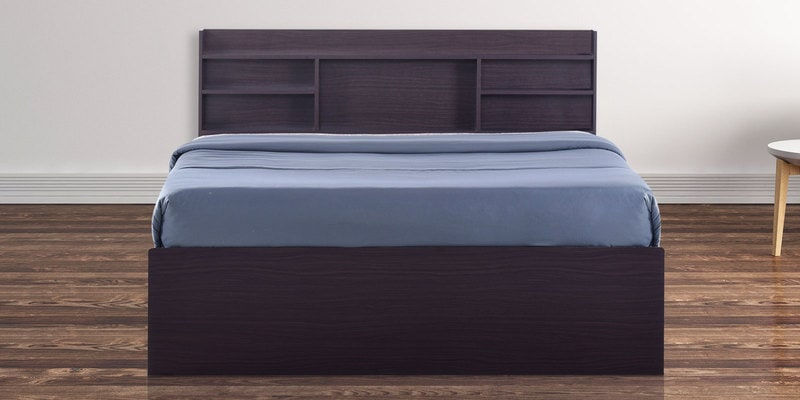Daichi Queen Size Bed in Walnut Finish by Mintwud