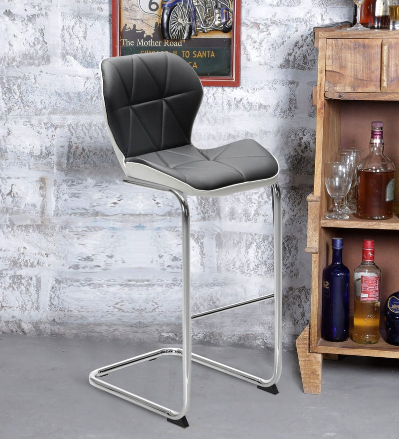 Darcy Bar Chair in Black Colour by @ Home