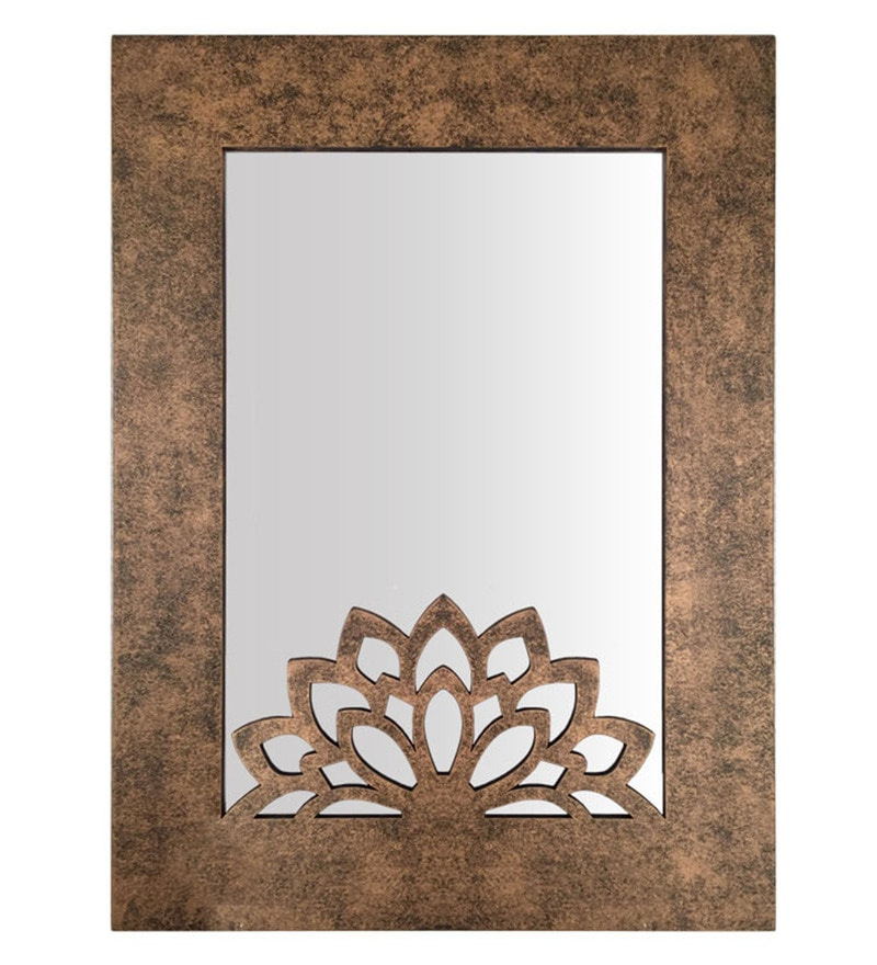 Dark Brown Wood Mirror by Butterfly Homes