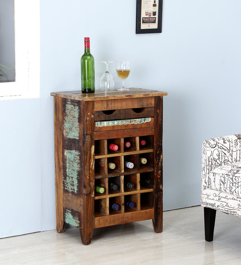 Dave Wine Rack in Distress Finish by Bohemiana