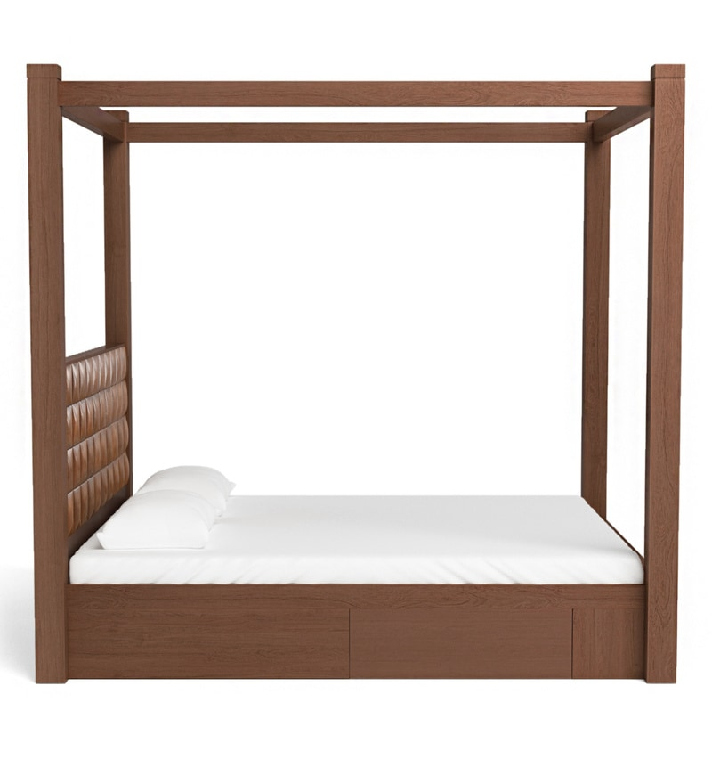 f8311c8e657d Buy David Poster Bed with Storage in Dark Walnut Finish by @home ...