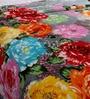 Daffodils Multicolour Poly cotton Single Size Blanket