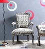 Elton Arm Chair in Grey Colour by Bohemiana
