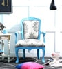Elton Arm Chair in Blue Colour by Bohemiana