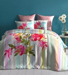 Dctex Furnishings Multicolour 100% Cotton Digital Printed Bedsheet Set - 1597038