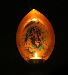 Deepak Shape Metal Tea Light Candle Holder