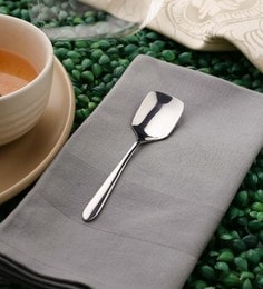 Sanjeev Kapoor Delton Premium Ice Cream Spoons Silver Premium Stainless Steel - Set Of 6