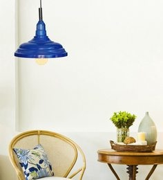 Design Villa Blue Iron Plain Cup Pendant
