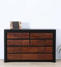 Deux Chest Of Six Drawers In Dual Tone Finish