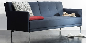 Desmond Sofa Cum Bed In Blue Colour