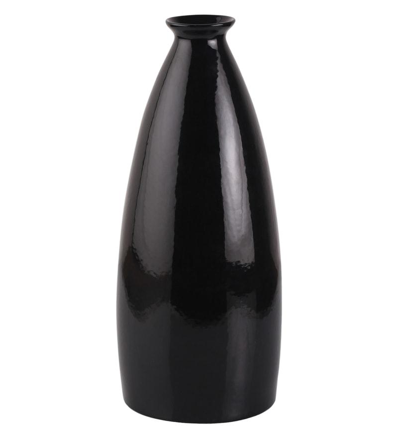 Buy Black Ceramic Vase By Decardo Online Ceramic Vases Vases