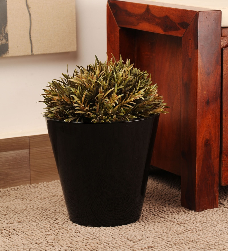 Decardo Black Ceramic Glazed Planter