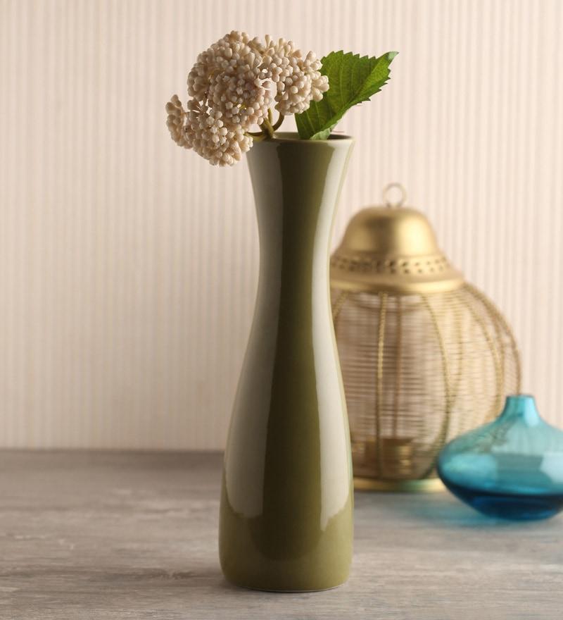 Green Ceramic Vase by Decardo