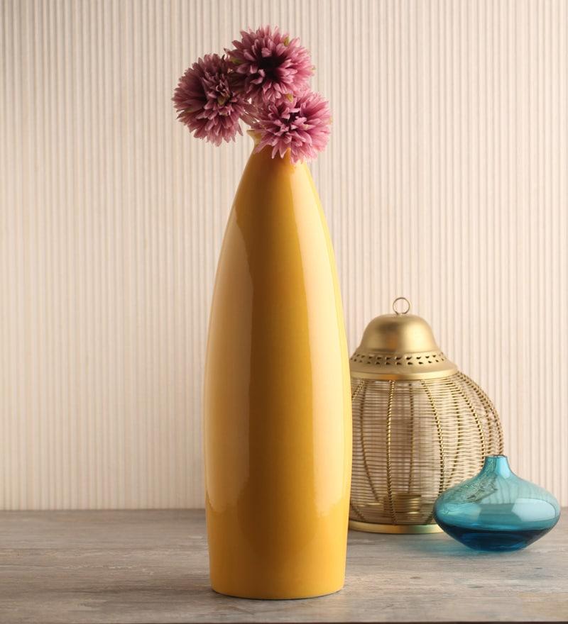 Yellow Ceramic Vase by Decardo