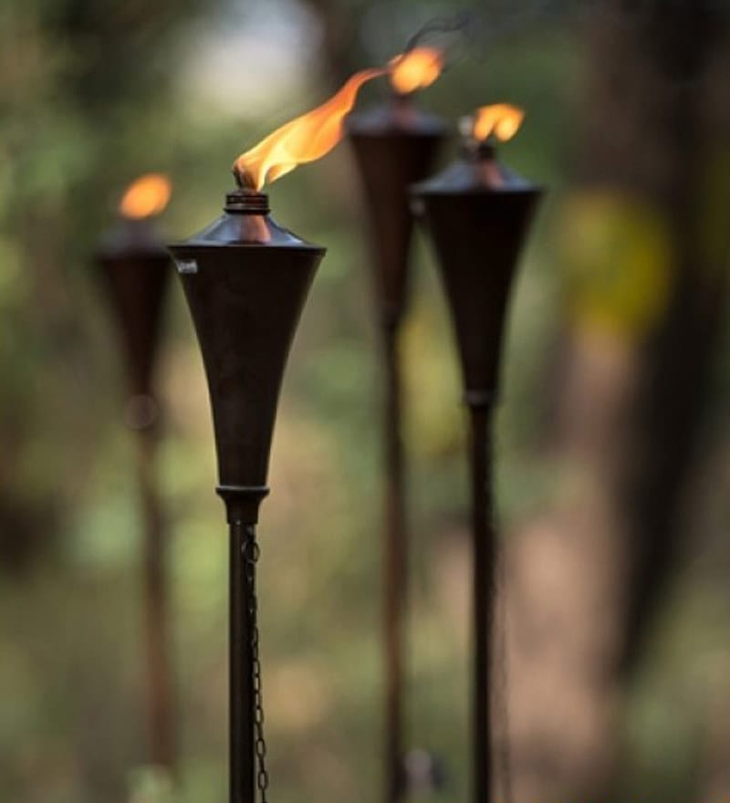 Garden Torches Oil Rubbed Set of 4 (44 Inches or 60 Inches) by Deco Home