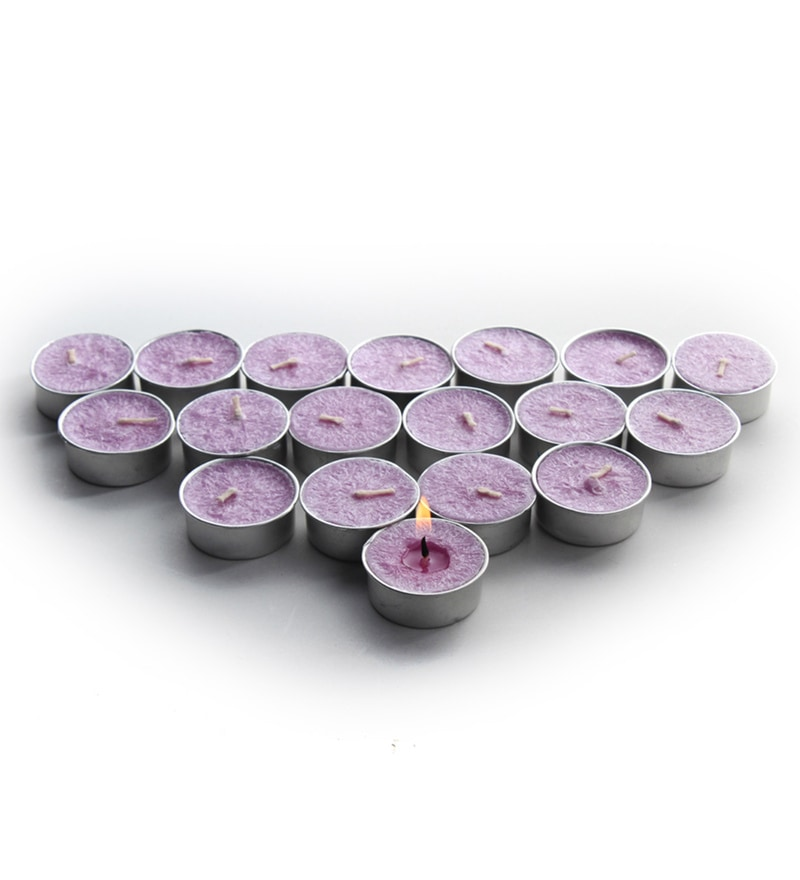 Lavender T-Light Candles - Set of 36 by Decoaro