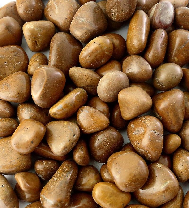 Brown Stone Pebbles - 1 Kg by Decor Pebbles