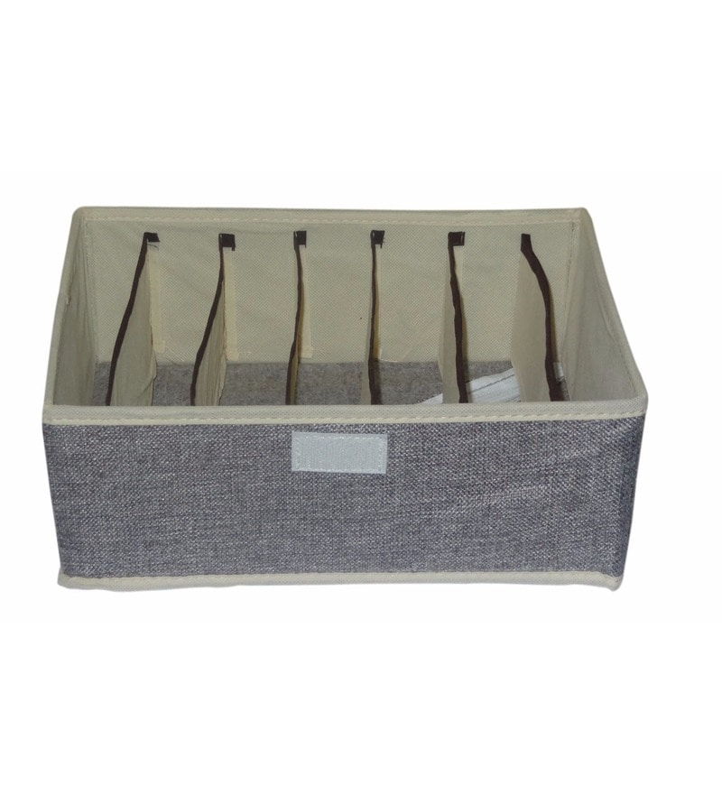 Foldable Cotton Innerwear Storage Clothes Organiser by Decorika