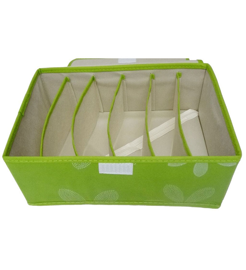 Canvas Green Innerwear Storage Organiser by Decorika