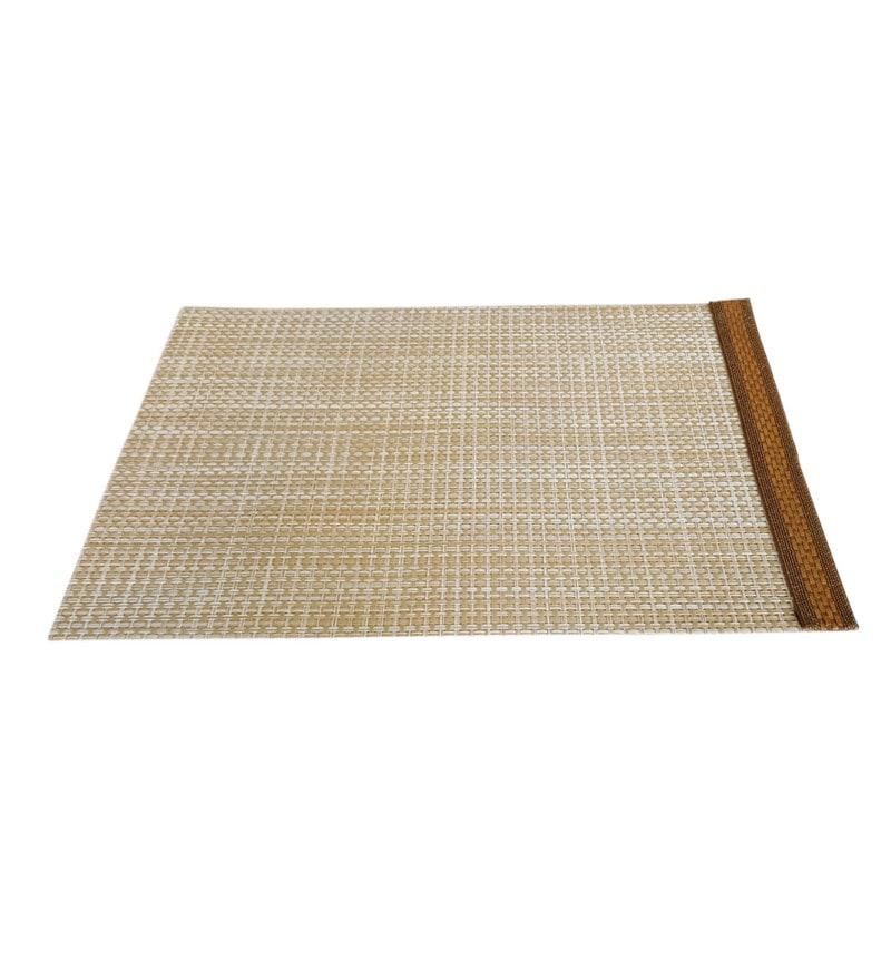 Decorika Lace Border Brown PVC Placemats - Set of 4