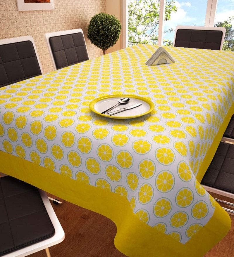 Decotrend Citrus Yellow 100% Cotton Table Cloth