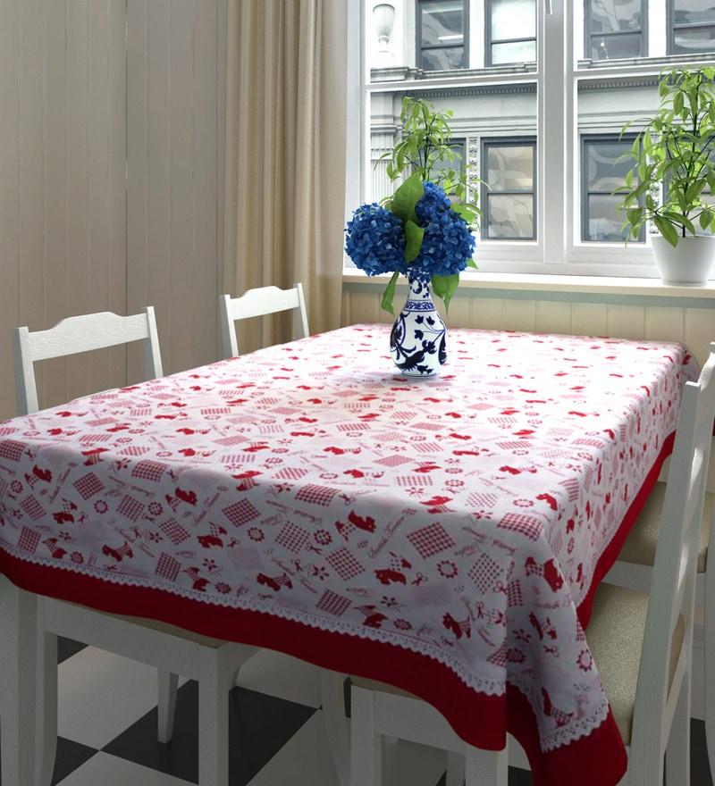 Decotrend Multicolour 100% Cotton Table Cloth with Border