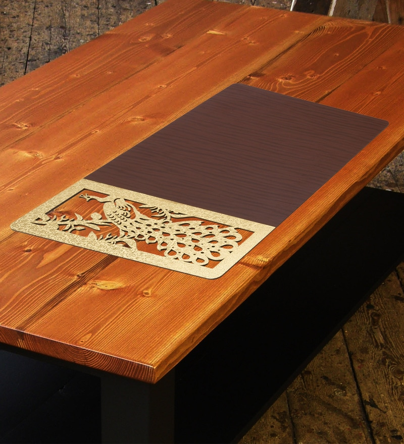 Decotrend Peacock Gold & Brown MDF Table Mat