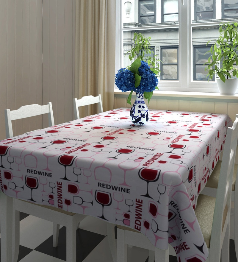 Decotrend Red Wine Multicolour 100% Cotton Table Cloth
