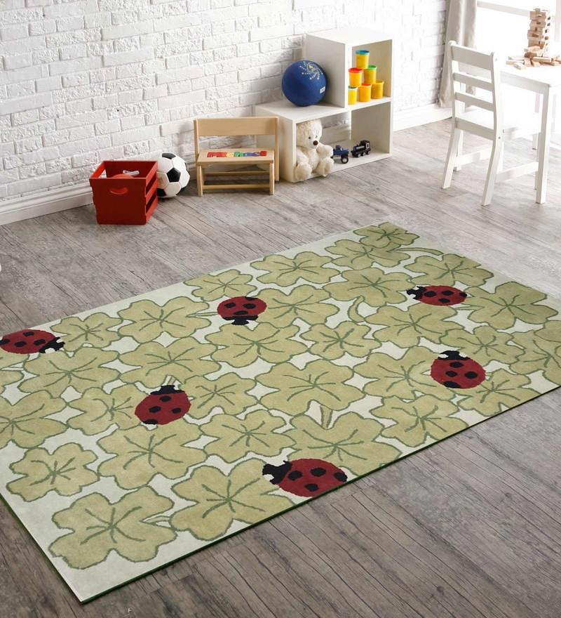 Indian Hand Made Floor Carpet Tufted Kids Beatles Design by Designs View
