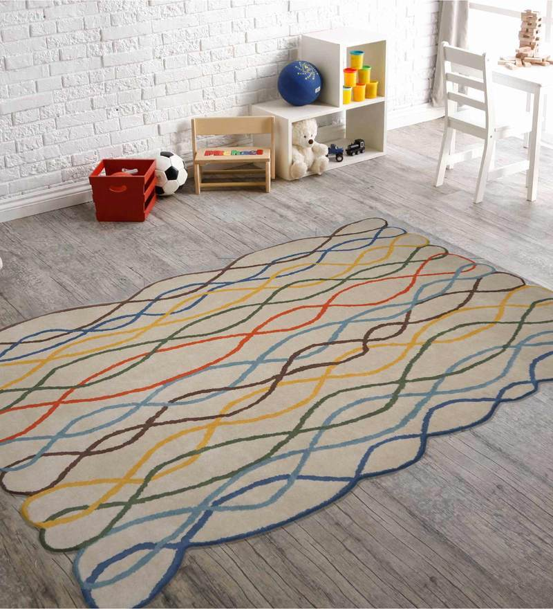 Indian Hand Made Floor Carpet Tufted Kids Rope Design by Designs View